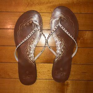 Patterned flip flops!